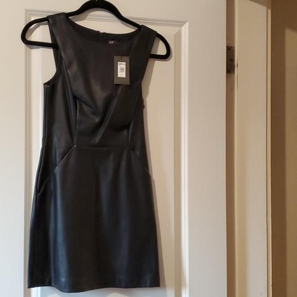 A/X brand new black leather dress